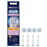 Rezerves zobu birstes uzgaļi Oral-B Sensi UltraThin, Braun / 4 gab