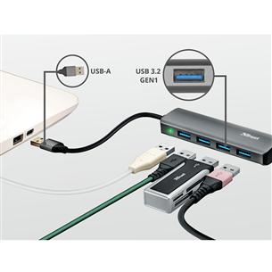 USB portu dalītājs Halyx 4 USB 3.2, Trust