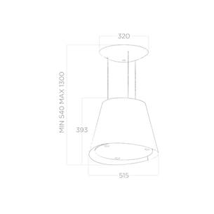 Island cooker hood Elica Easy (603 m³/h)