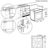 Iebūvējama elektriskā cepeškrāsns ar katalītisko tīrīšanu, Electrolux (72 L)