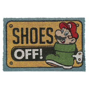 Door mat Mario Shoes Off