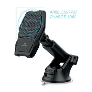 Auto telefona turētājs ar bezvadu uzlādi, Swissten WM1-HK2