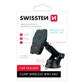 Auto telefona turētājs ar bezvadu uzlādi, Swissten