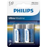Baterijas LR14E C 2 Ultra Alkaline, Philips / 2gb