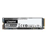 SSD cietais disks KC2000 2280, Kingston / 500GB, M.2