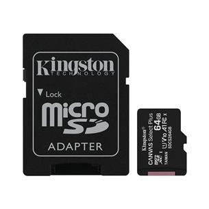 Atmiņas karte Canvas Select Plus microSD, Kingston / 64GB