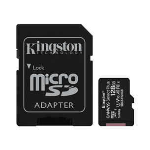 Atmiņas karte Canvas Select Plus microSD, Kingston / 128GB