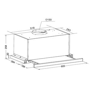 Built-in cooker hood Hansa (415 m³/h)
