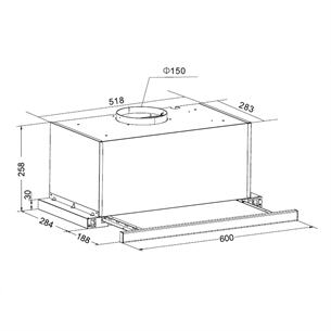 Tvaika nosūcējs, Hansa / 415 m³/h