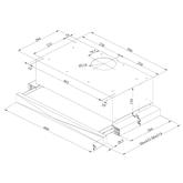 Iebūvējams tvaika nosūcējs, Beko / 352 m³/h