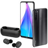 Смартфон Redmi Note 8T + беспроводные наушники QCY-T1, Xiaomi