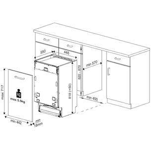 Iebūvējama trauku mazgājamā mašīna, Beko / 11 komplektiem