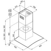 Tvaika nosūcējs, Hansa / 330  m³/h