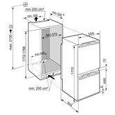 Iebūvējams ledusskapis Comfort NoFrost, Liebherr (178 cm)