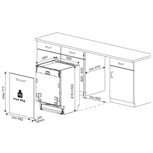 Built-in dishwasher Beko (14 place settings)