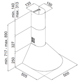 Tvaika nosūcējs, Hansa / 240 m³/h