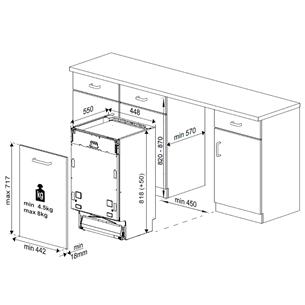 Интегрируемая посудомоечная машина Beko (11 комплектов посуды)