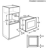 Iebūvējama mikroviļņu krāsns, Electrolux / tilpums: 26 L