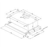 Tvaika nosūcējs, Hansa / 315 m³/h