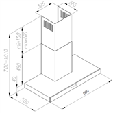Tvaika nosūcējs, Hansa / 597 m³/h