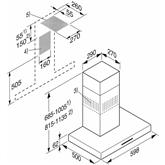 Tvaika nosūcējs, Miele / 650 m³/h