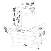 Tvaika nosūcējs, Beko / 525 m³/h