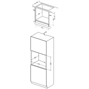 Интегрируемый духовой шкаф, Hansa (62 л)