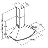 Tvaika nosūcējs Classica, Cata / 645 m³/h