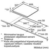 Iebūvējama indukcijas plīts virsma, Bosch