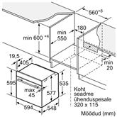 Iebūvējama cepeškrāsns ar pirolītisko tīrīšanu, Bosch