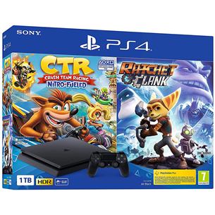 Spēļu konsole PlayStation 4 Slim Days of Play, Sony / 1 TB + Crash Team Racing + Ratchet & Clank