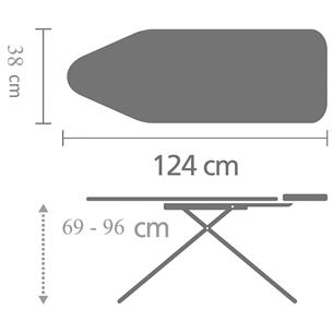 Гладильная доска Brabantia (B, 124 x 38 см)