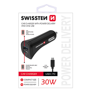 Auto lādētājs, Swissten / MicroUSB