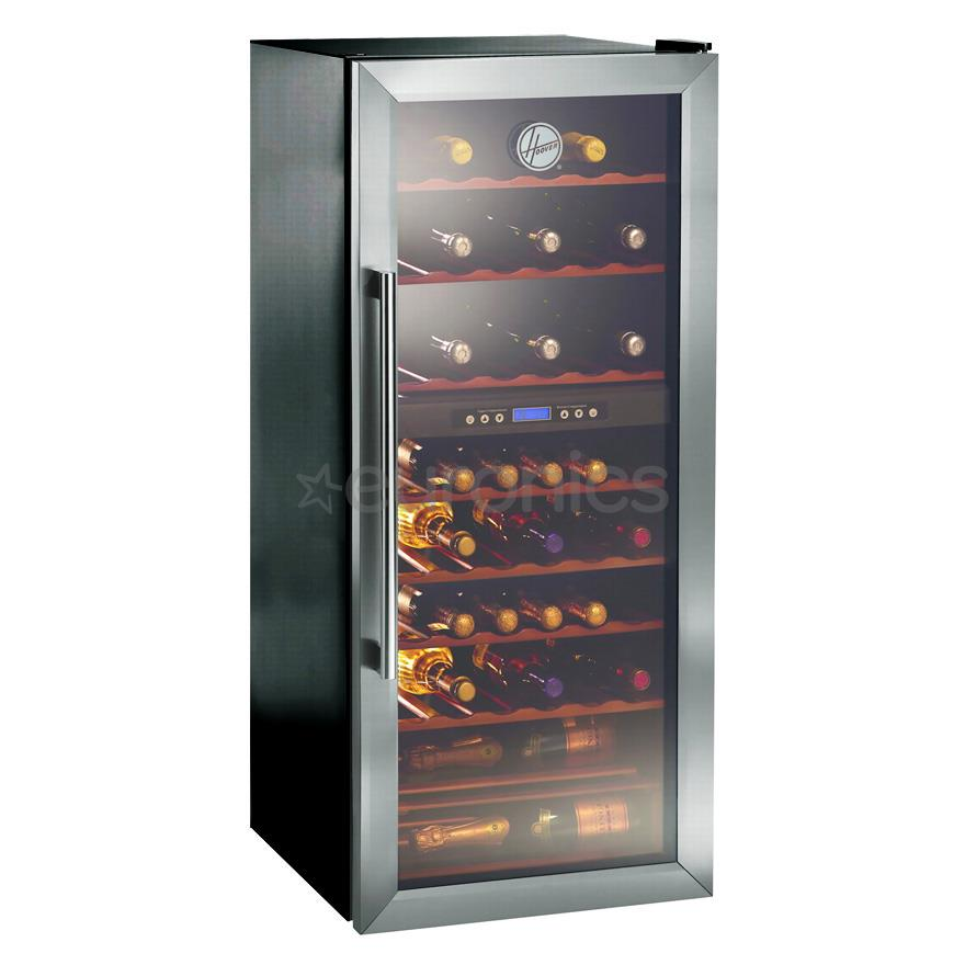 Wine cooler hoover capacity 70 psc 0 75 l bottles for Best wine fridge brands
