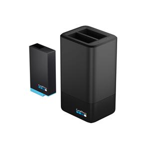 Divu akumulatora lādētājs + akumulators priekš GoPro MAX, GoPro