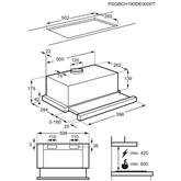 Iebūvējams tvaika nosūcējs, Electrolux (370 m³/h)