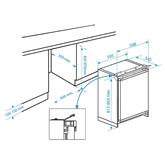 Iebūvējams ledusskapis, Beko (82 cm)