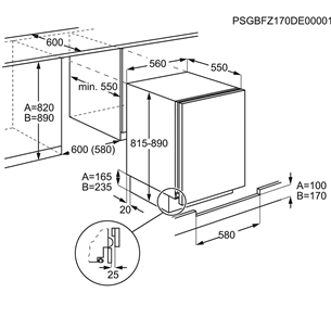 Built-in freezer Electrolux (95 L)