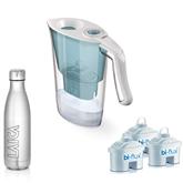 Кувшин для фильтрации воды Laica + 3 фильтра + бутылка