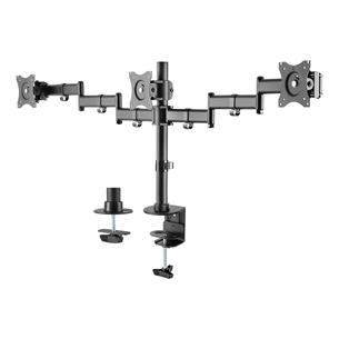 Monitora statīvs Triple, Deltaco ARM-0301