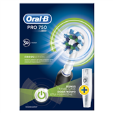 Elektriskā zobu birste Oral-B Pro 750 Cross Action, Braun