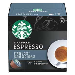 Kafijas kapsulas Starbucks Espresso Roast, Nescafe Dolce Gusto