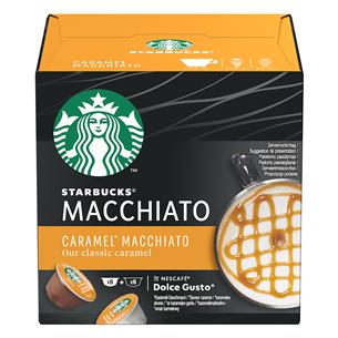 Kafijas kapsulas Starbucks Caramel Macchiato, Nescafe Dolce Gusto