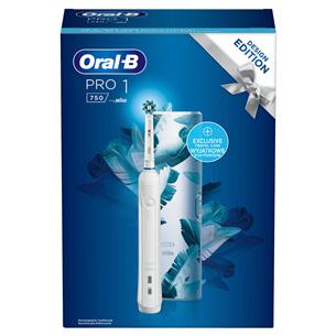 Elektriskā zobu birste Oral-B Cross Action White, Braun