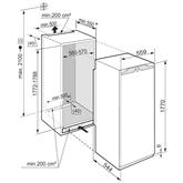 Iebūvējams ledusskapis Comfort, Liebherr / 178 cm