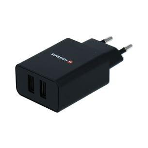 Зарядное устройство, Swissten SW-SET-2X2.1AWCUC-BK