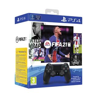 Spēļu kontrolieris DualShock 4 priekš PlayStation 4 + spēle FIFA 21, Sony