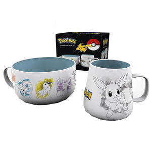 Mug and bowl Pokemon Eevee