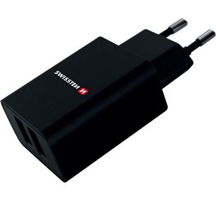 Charger Smart IC 2xUSB 2.1A Lightning, Swissten