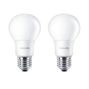 2 x LED lamp Philips E27